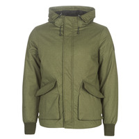 Textil Homem Jaquetas Scotch & Soda SHORT HOODED JACKET WITH INSIDE QUILTING Cáqui