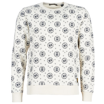 Textil Homem Sweats Scotch & Soda CREWNECK SWEAT WITH LOGO ALL-OVER PRINT Branco