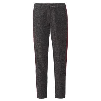 Textil Mulher Calças Maison Scotch TAPERED LUREX PANTS WITH VELVET SIDE PANEL Cinza
