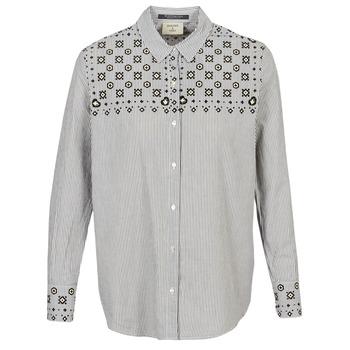 Textil Mulher camisas Maison Scotch BUTTON UP SHIRT WITH BANDANA PRINT Cinza