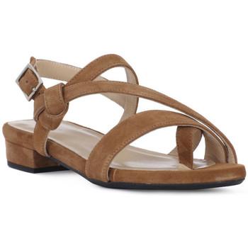 Sapatos Mulher Sandálias Frau CAMOSCIO SELLA Marrone