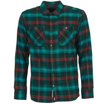 Textil Homem Camisas mangas comprida DC Shoes VIBRATION Preto / Azul / Vermelho