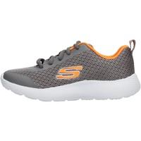 Sapatos Rapaz Sapatilhas Skechers - Speed fleet grigio/arancio 98121L CCOR GRIGIO