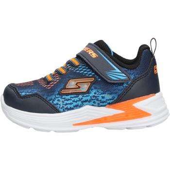 Sapatos Rapaz Sapatilhas Skechers - Sneaker da Bambino Blu in  90563N NVOR