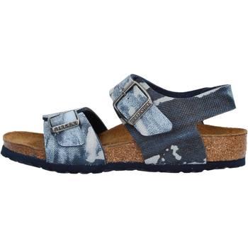 Sapatos Rapaz Sandálias Birkenstock - New york  blu 1004917 BLU