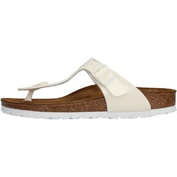 Sapatos Rapariga Chinelos Birkenstock - Gizeh bianco 847223 BIANCO