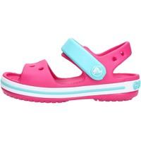 Sapatos Rapariga Sandálias Crocs - Crocband sand k fuxia/azzurro 12856-6LH FUXIA