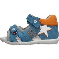 Sapatos Rapaz Sandálias desportivas Balducci - Sandalo celeste/arancione CITA2512 CELESTE