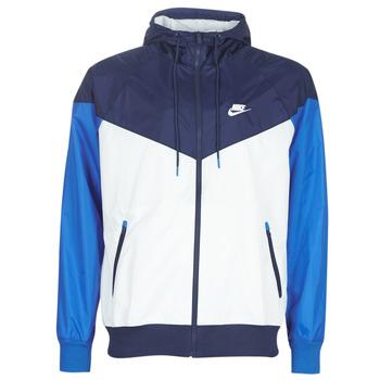 Textil Homem Corta vento Nike M NSW HE WR JKT HD Azul / Branco