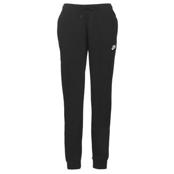 Textil Mulher Calças de treino Nike W NSW ESSNTL PANT REG FLC Preto