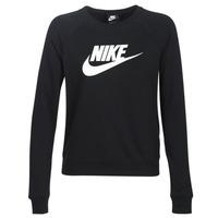 Textil Mulher Sweats Nike W NSW ESSNTL CREW FLC HBR Preto