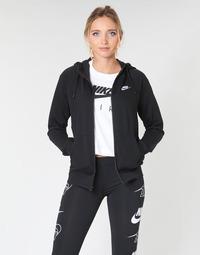 Textil Mulher Sweats Nike W NSW ESSNTL HOODIE FZ FLC Preto