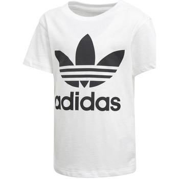 Textil Rapaz T-Shirt mangas curtas adidas Originals - T-shirt bianco D98852