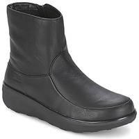 Sapatos Mulher Botins FitFlop LOAFF SHORTY ZIP BOOT Preto