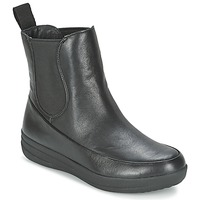 Sapatos Mulher Botas baixas FitFlop FF-LUX CHELSEA BOOT Preto