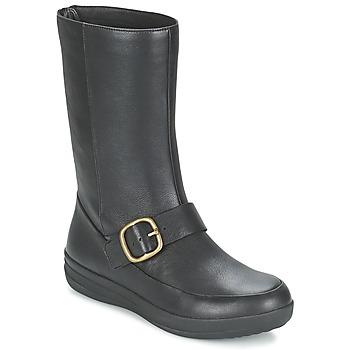 Sapatos Mulher Botas baixas FitFlop FF-LUX BIKER Preto