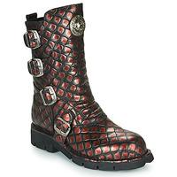 Sapatos Mulher Botas baixas New Rock M-373X Preto / Vermelho