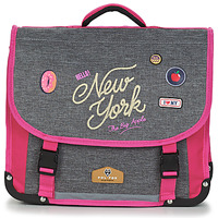 Malas Rapariga Pasta Back To School POL FOX NEW YORK CARTABLE 38 CM Cinza / Rosa