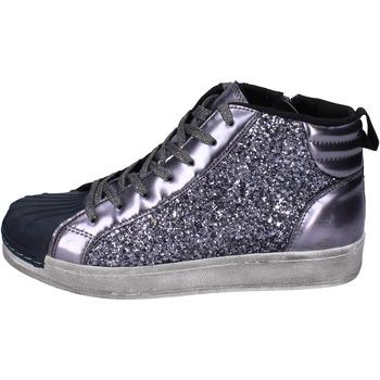Sapatos Rapariga Sapatilhas de cano-alto Holalà Sneakers BR385 Cinza