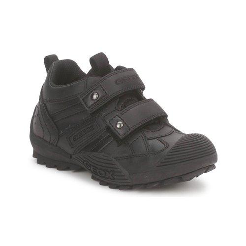 Sapatos Rapaz Sapatilhas Geox SAVAGE A Preto