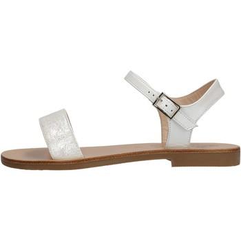 Sapatos Rapaz Sandálias Moda Positano - Sandalo perlato  bianco B4/19 BIANCO