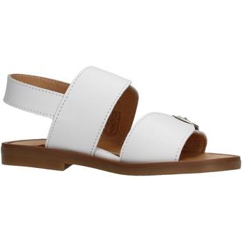 Sapatos Rapaz Sandálias Platis - Sandalo bianco P4001-15 BIANCO