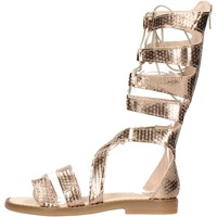 Sapatos Rapaz Sandálias Chiara Luciani - Sandalo laminato 170/18 PLATINO