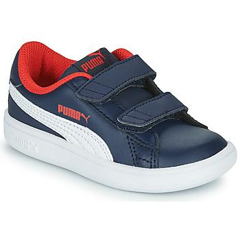 Sapatos Rapaz Sapatilhas Puma SMASH Marinho