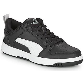 Sapatos Rapaz Sapatilhas Puma REBOUND LAYUP N Preto