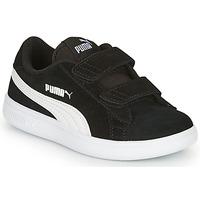 Sapatos Rapaz Sapatilhas Puma SMASH V2 SD V Preto