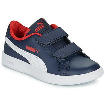 Sapatos Rapaz Sapatilhas Puma SMASH PS Marinho