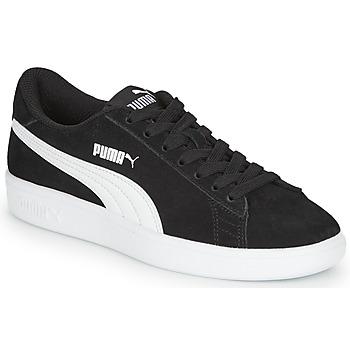 Sapatos Rapaz Sapatilhas Puma SMASH V2 SD JR Preto