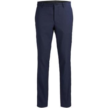Textil Homem Calças Jack & Jones 12141112 JPRSOLARIS TROUSER NOOS DARK NAVY Azul marino