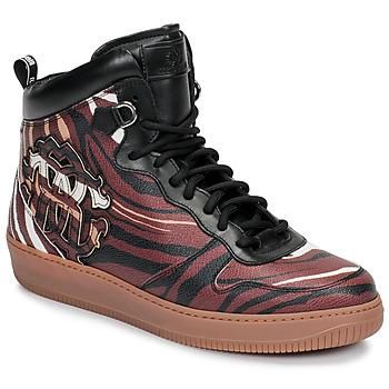 Sapatos Homem Sapatilhas de cano-alto Roberto Cavalli 8343 Multicolor