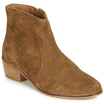 Sapatos Mulher Botas baixas André ELEANA Camel