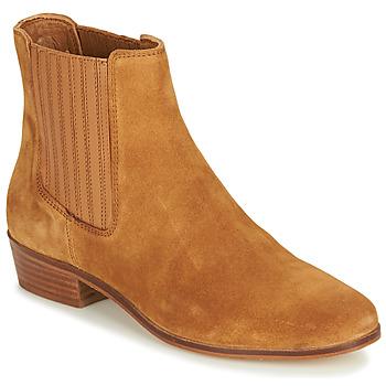 Sapatos Mulher Botas baixas André ECUME Camel