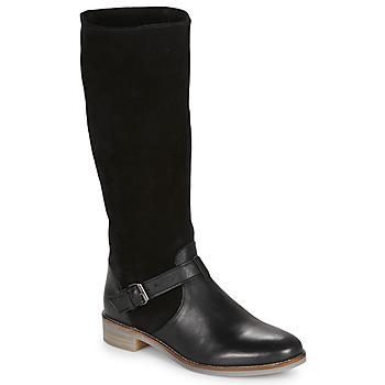 Sapatos Mulher Botas André ELIA Preto
