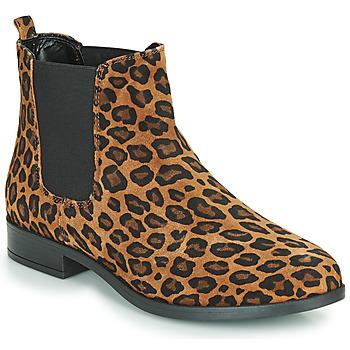 Sapatos Mulher Botas baixas André ELEGANTE Leopardo