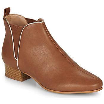 Sapatos Mulher Botas baixas André VERVEINE Camel