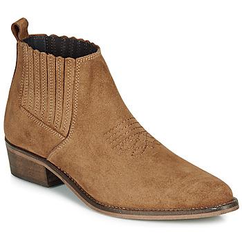 Sapatos Mulher Botas baixas André MANA Camel