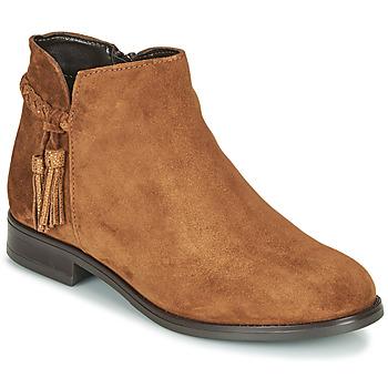 Sapatos Mulher Botas baixas André MILOU Camel