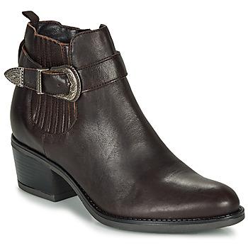 Sapatos Mulher Botins André MADAISY Castanho