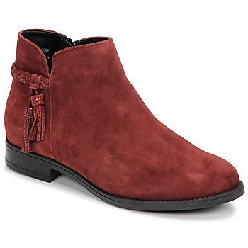 Sapatos Mulher Botas baixas André MILOU Vermelho