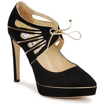 Sapatos Mulher Escarpim Moschino MA1004 Preto-dourado