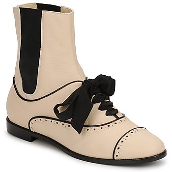 Sapatos Mulher Botas baixas Moschino MA2103 Bege