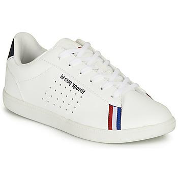 Sapatos Rapaz Sapatilhas Le Coq Sportif COURTSTAR GS SPORT BBR Branco