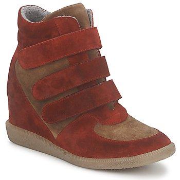 Sapatos Mulher Sapatilhas de cano-alto Meline IMTEK BIS Castanho / Vermelho