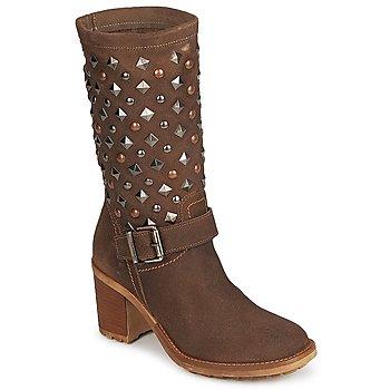 Sapatos Mulher Botas Meline DOTRE Castanho