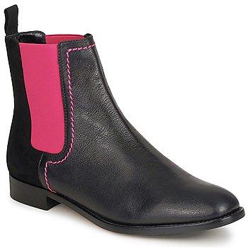 Sapatos Mulher Botas baixas Moschino Cheap & CHIC CA2112 Preto / Rosa