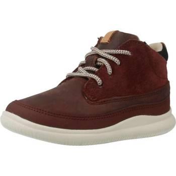 Sapatos Rapaz Botas baixas Clarks CLOUD AIR FST Vermelho